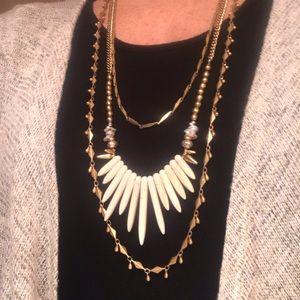 Stella & Dot 3 tier necklace